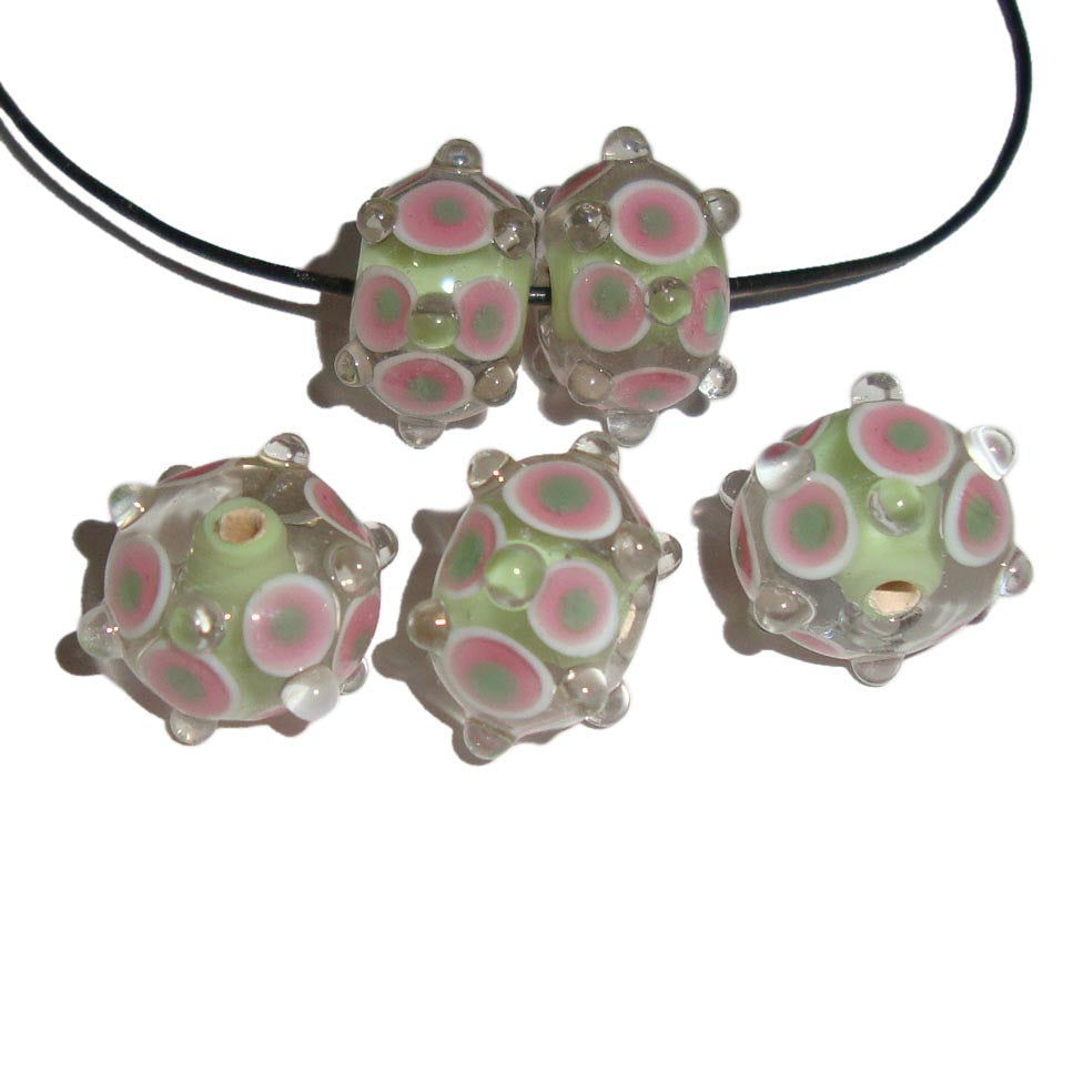 Lampwork Bumpy and Raised pattern Decoration Handmade Glass Beads
