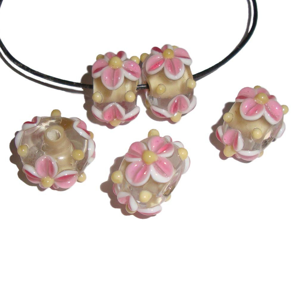 Made to Order  Flowers lampwork beads, Sold Per Kilogram Pack, Handmade glass bead , Murano glass artisan beads, Floral jewelry making, craft project