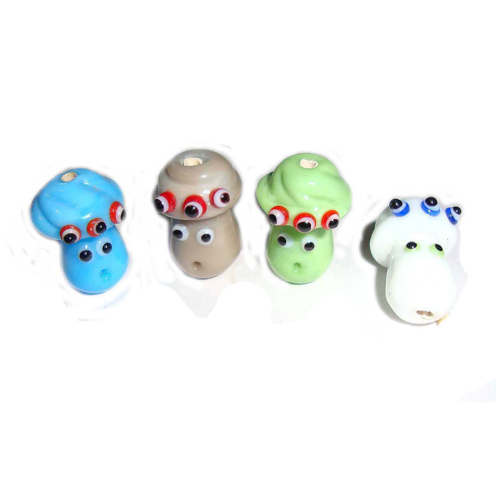 Doll,18mm Approx Size, Handmade lampwork Glass Beads Sold Per 100 Pcs Pack