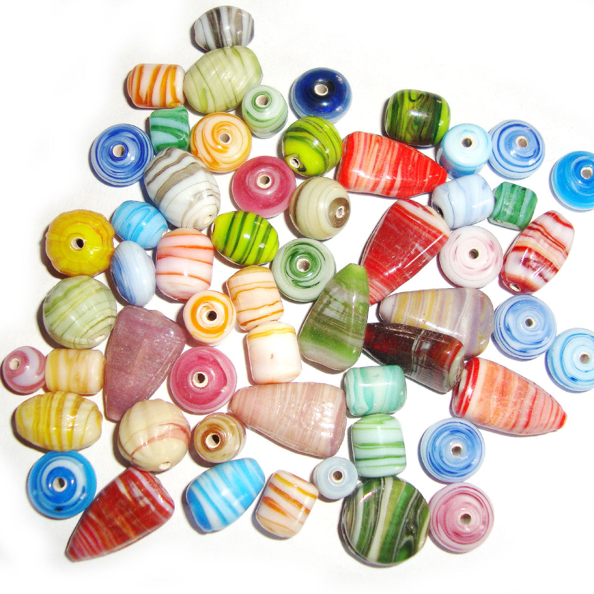Swirl Decoration Multi Shape Mix Color handmade glass beads for jewelry making findings
