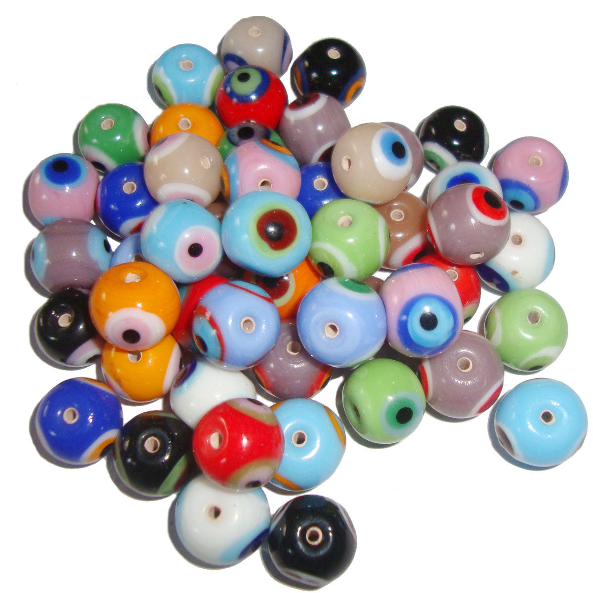 Eye Decoration Round Mix solid color lampwork glass beads for jewelry making