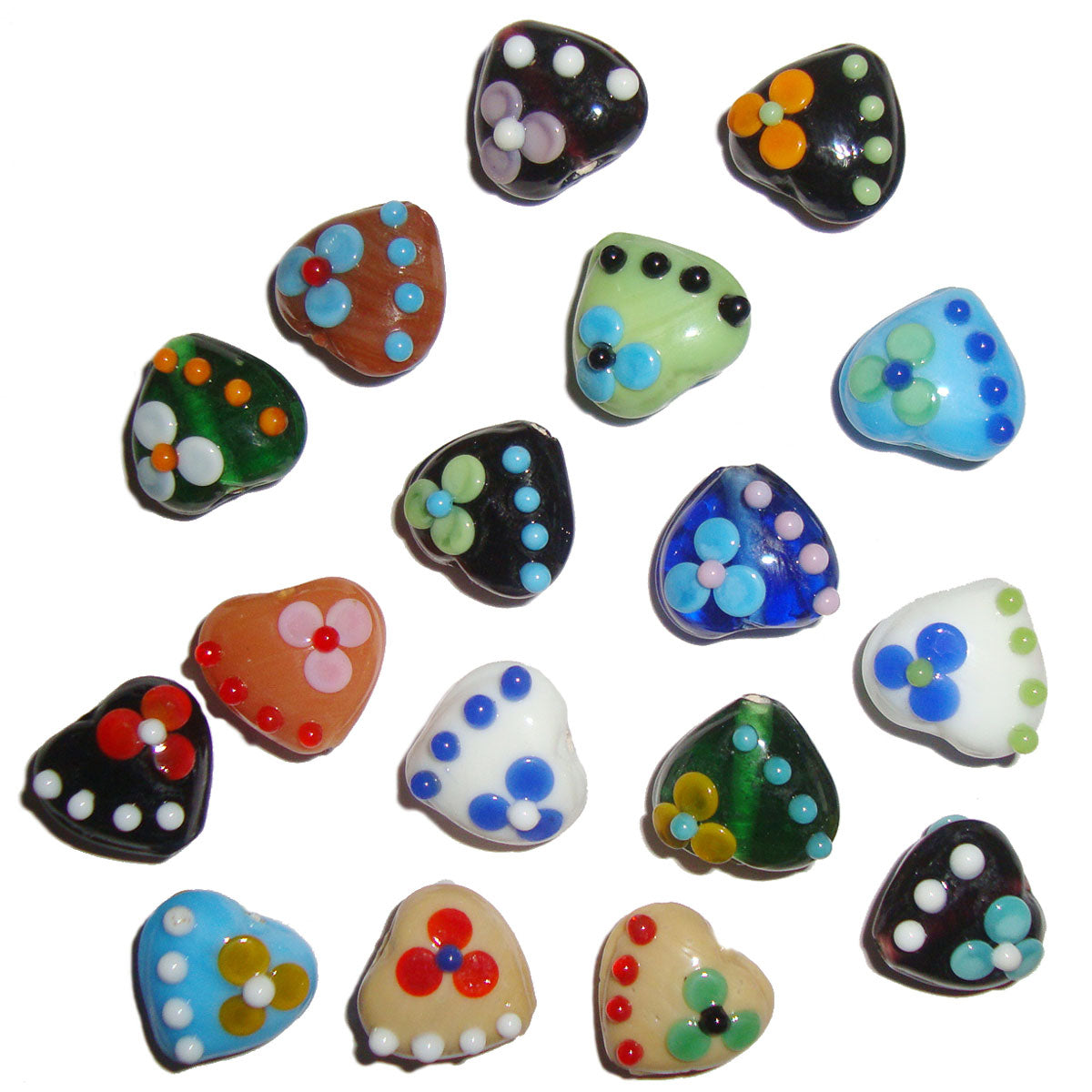 Mix color Heart Flower Decoration handmade best for earring making