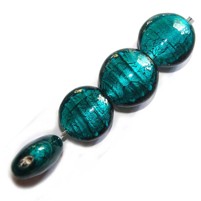 Per Kilogram Pack, Exquisite Silver Foil Inside Round Lampwork Glass Loose Spacer Beads Charms Jewelry Making Findings