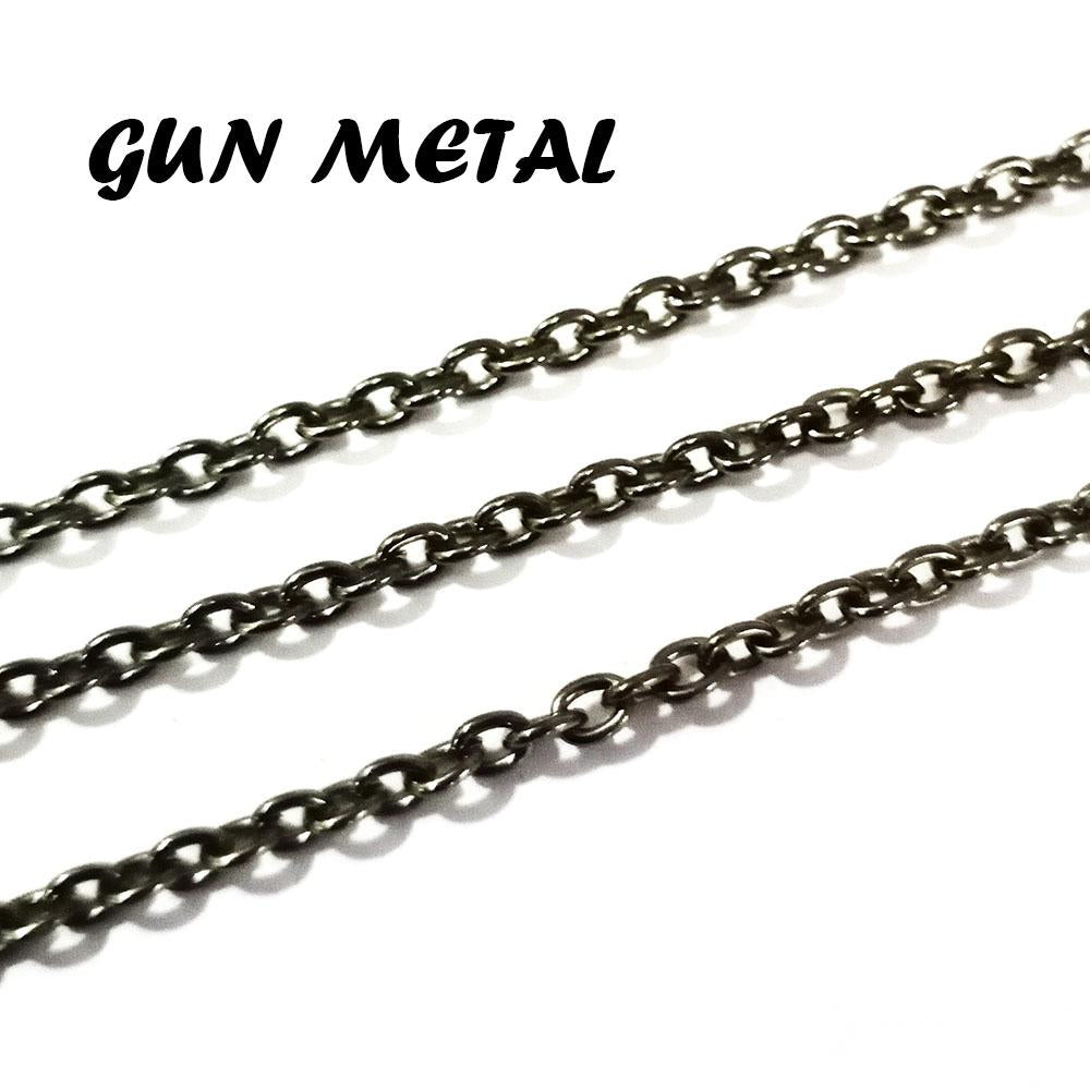 2x3-mm-gun-metal-metal-plated-chains-sold-by-1 kg Pack