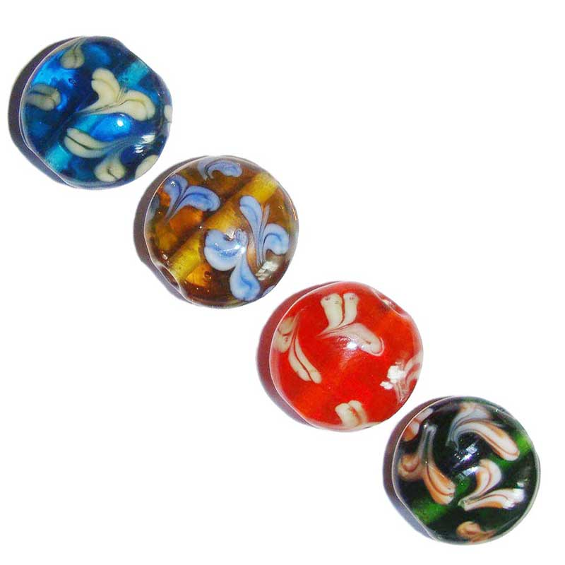 Mix Color decoration lampworked spacer focal beads