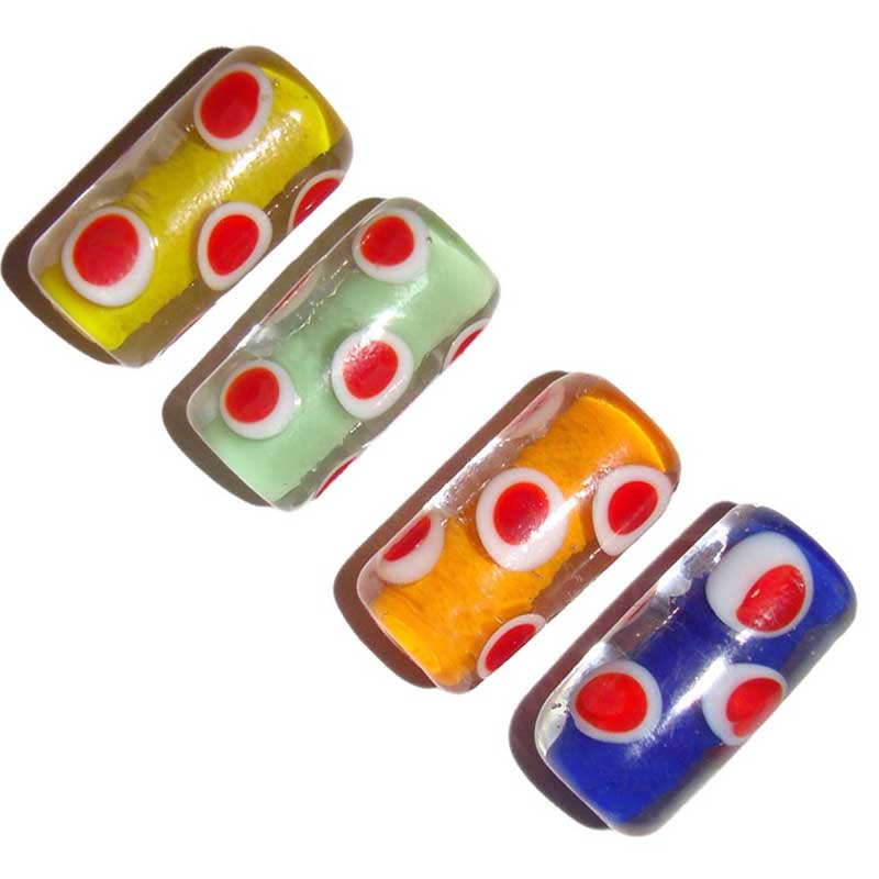 Tube Eye Lampwork Handmade SRA Wholesale Bulk Buy Glass Beads