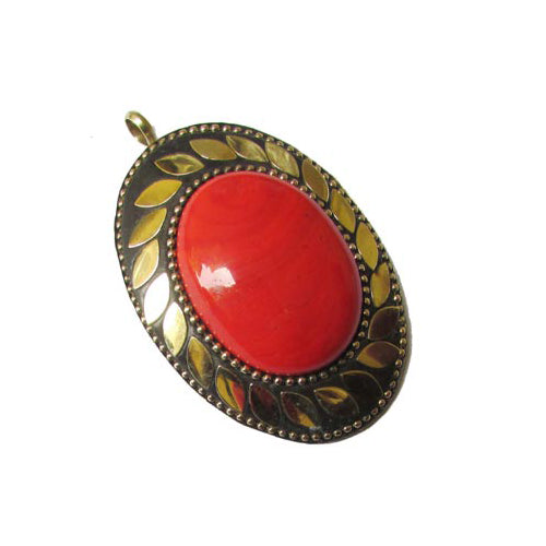10 Pcs 50~60mm Oval Nepali Indian Trade Pendant