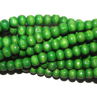 "20 Strands (each 16"") Pack 8mm Size Green DyedNoraml low priced wood beads for jewelry and craft making supplies"