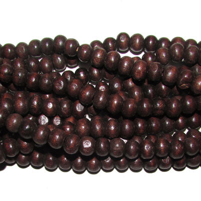 "20 Strands (each 16"")  Pack 8mm Size Brown Dyed Noraml low priced wood beads for jewelry and craft making supplies"