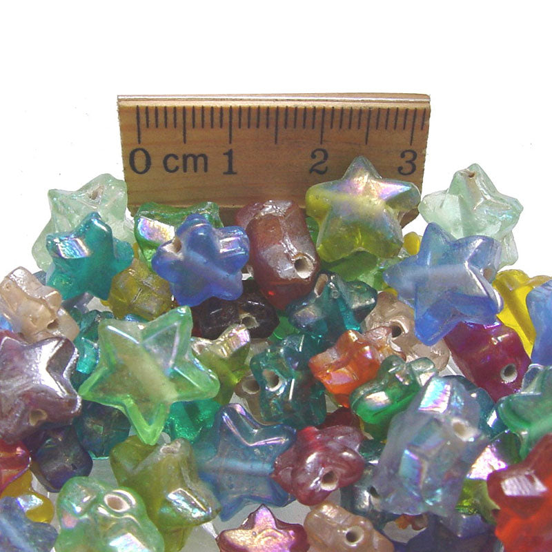 1 Kilogram Mix Color Glass Beads 8mm Star Opaque and Transparent Solid color