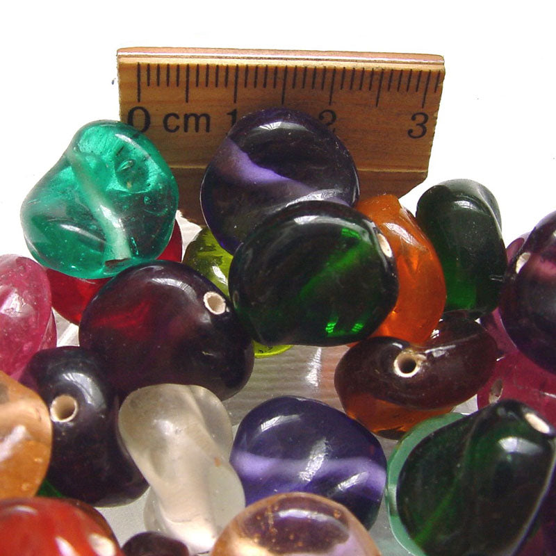 1 Kilogram Mix Color Glass Beads 12mm Twisted Opaque and Transparent Solid color