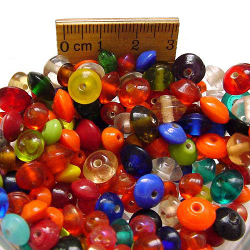 1 Kilogram Mix Color Glass Beads 6mm Disc Opaque and Transparent Solid color