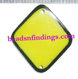 20 Pcs,Yellow,40-45mm,Diamond,Resin pendants for jewelry Making Made to Order