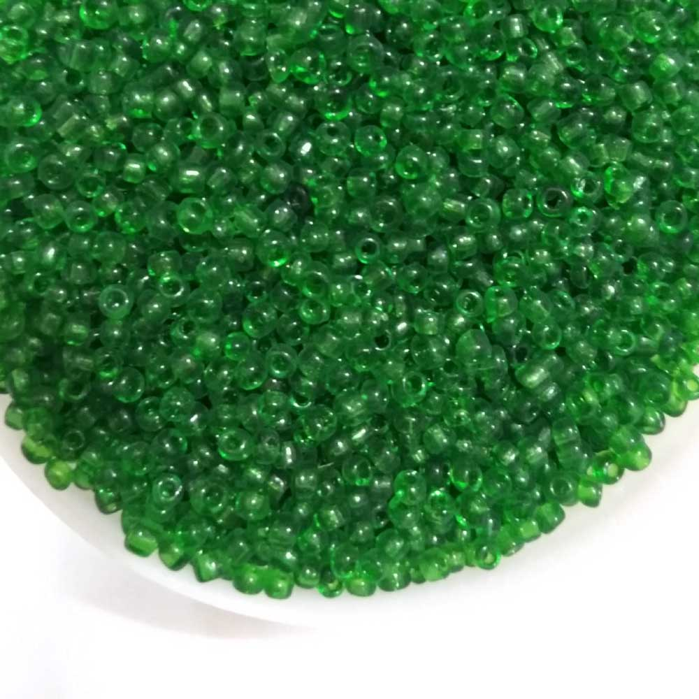 500 gram & 1 Kilogram package Green glass seed beads for jewelry making