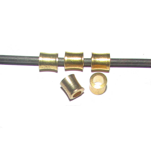1 Kilogram 4x5mm, Tube Solid Brass Metal Beads Sold Per Kilogram Pack 1960 Pcs in a  Kilogram.