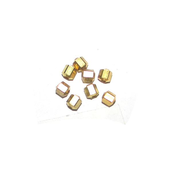 1 Kilogram 3x4mm, Solid Brass Metal Beads Sold Per Kilogram Pack, 5550 Pcs in a Kilogram