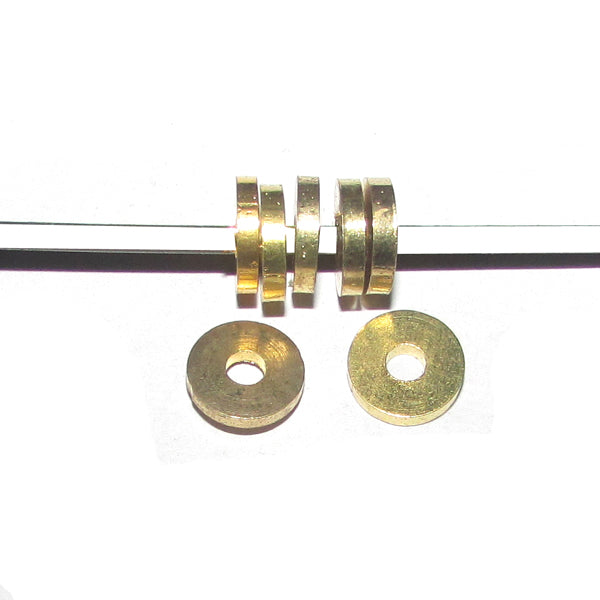 1 Kilogram 2x8mm, Solid Brass Metal Beads Sold Per Kilogram Pack, 1490 Pcs in a Kilogram