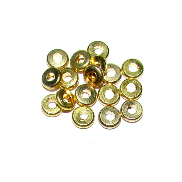 1 Kilogram, 5x1mm, Gold Plated Brass Metal Beads Sold Per Kilogram, Pack 5550 Pcs in a Kilogram