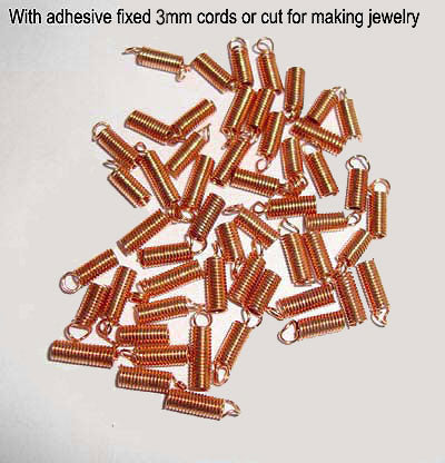 1000 Pcs Spring Crimp Cord stopper beads Copper plated
