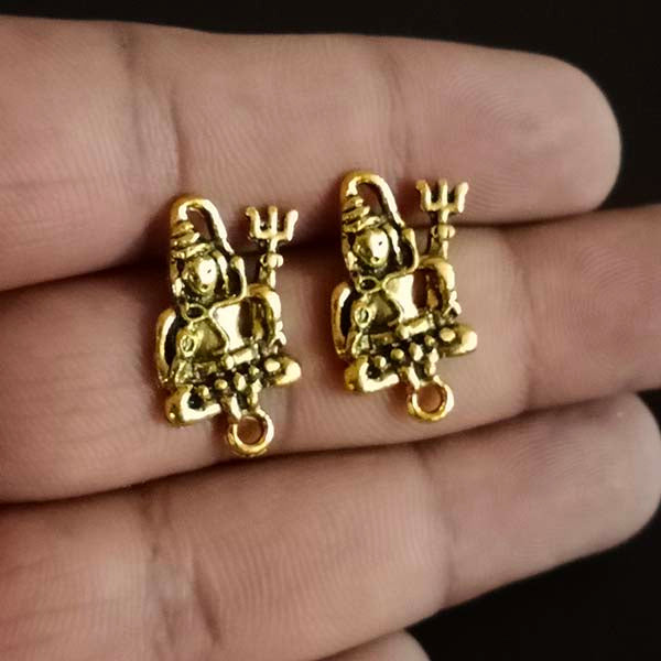 Per Kilo Pack Gold Oxidized Shiva   earring making studs tops temple jewelry making components findings