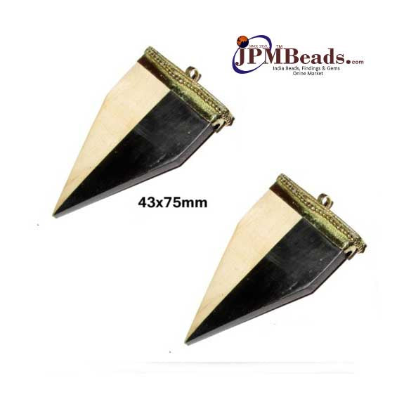 (Wholesale 20 Piece Pack), 43x75mm Long  Dagger Shape Bone Horn Pendants