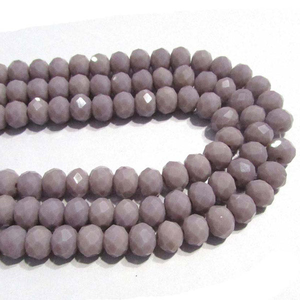 10 Strands Opaque Color Purple Color Rondelle Shape Faceted Crystal Glass Beads for jewelry Making Wholesale