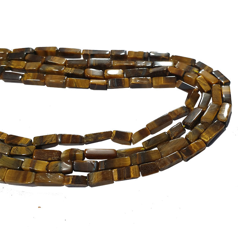 "4x6mm Tiger Eye Semi Precious beads strands about 15"" line"