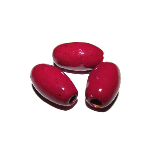 Red  Color 300 Pcs Pack hand Painted Large Size Wood Beads for Jewelry and Craft Making Supplies Made to Order