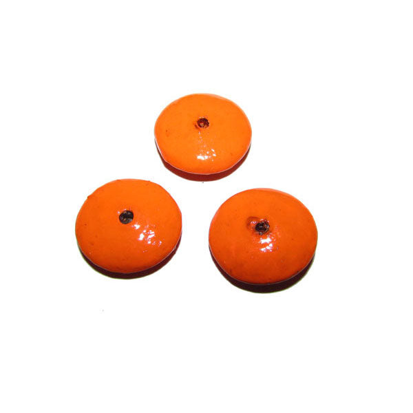 Orange  Color 300 Pcs Pack hand Painted Large Size Wood Beads for Jewelry and Craft Making Supplies Made to Order