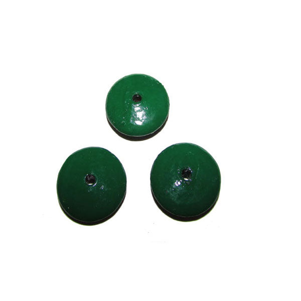 Green  Color 300 Pcs Pack hand Painted Large Size Wood Beads for Jewelry and Craft Making Supplies Made to Order