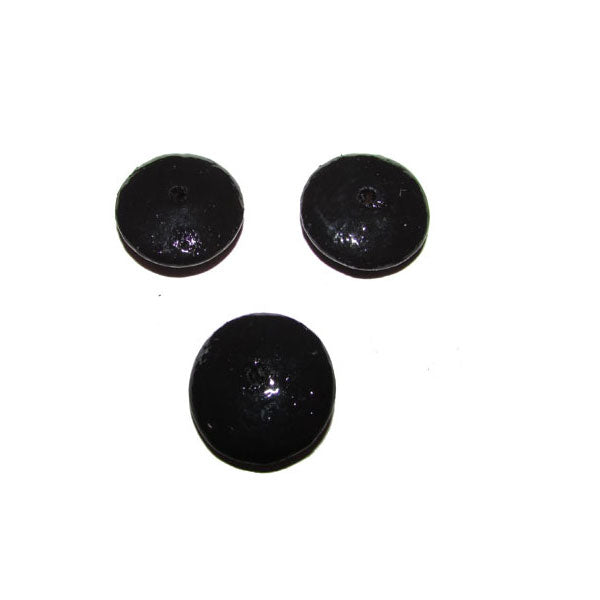 Black  Color 300 Pcs Pack hand Painted Large Size Wood Beads for Jewelry and Craft Making Supplies Made to Order