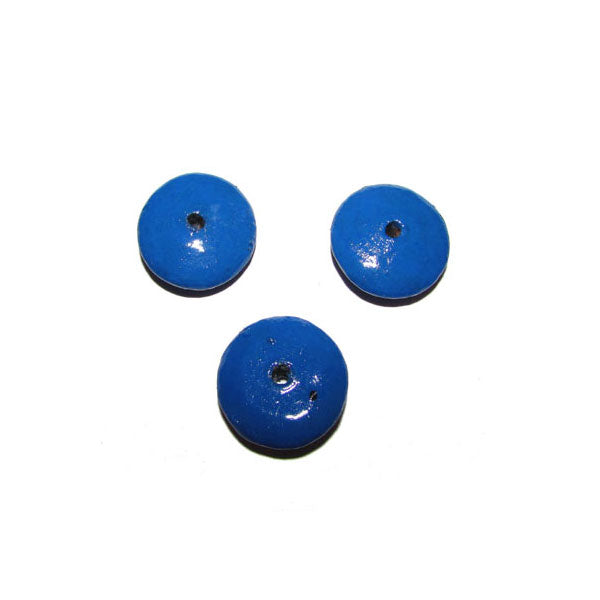 Blue  Color 300 Pcs Pack hand Painted Large Size Wood Beads for Jewelry and Craft Making Supplies Made to Order