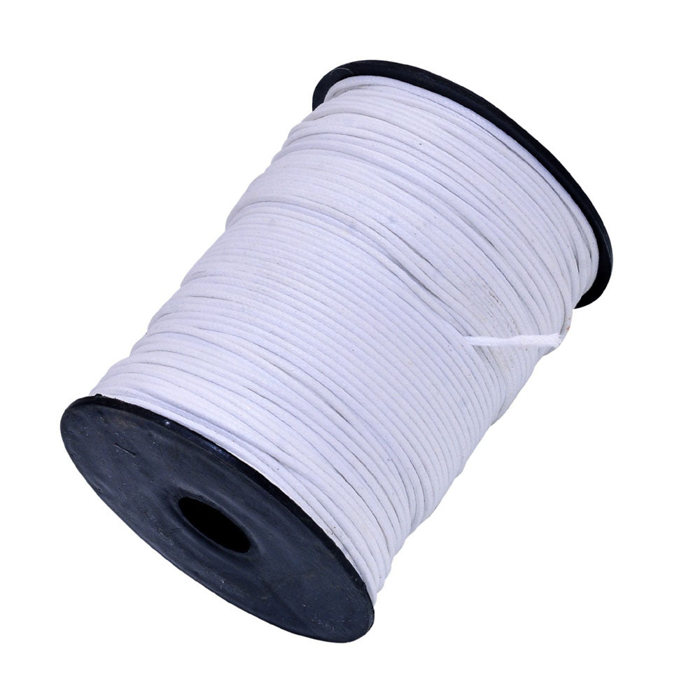 White 100 Meters Spool Round Cotton Wax Cords Threads Laces More Color Shade Available best for jewelry making