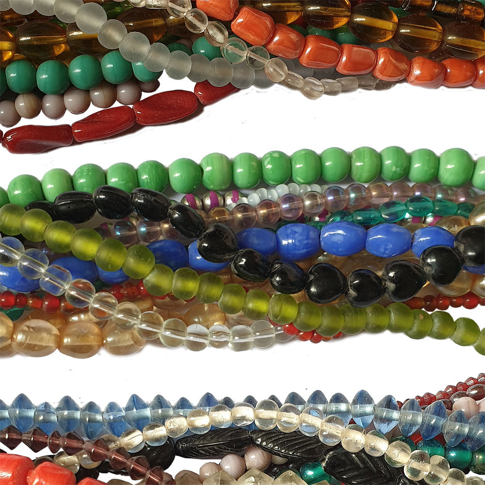 "10 Strands Randomly Each 15~16"" Line Glass Beads Mix strands mixed colors 4-12mm mixed shape."
