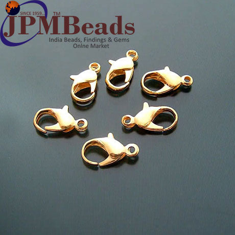 500 Pcs 12mm Iron Stainless Steel Lobster Claps Lock Economy cheap priced Wholesale Silver and Gold Plated