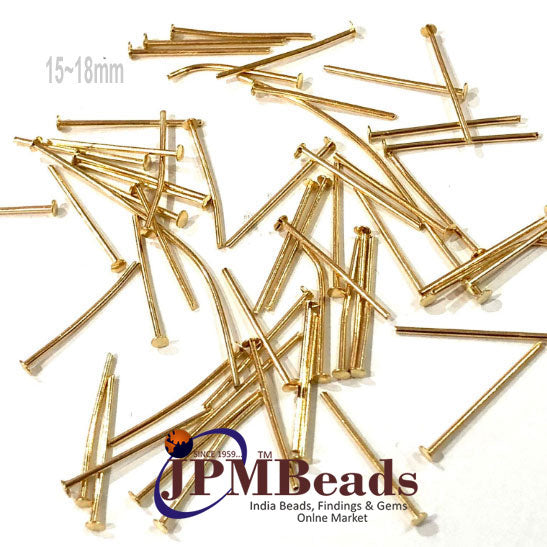 1000 Pcs Silver and Gold plated flat Head Pin Approx half inch 15~18mm Size material is stainless steel jewelry making findings