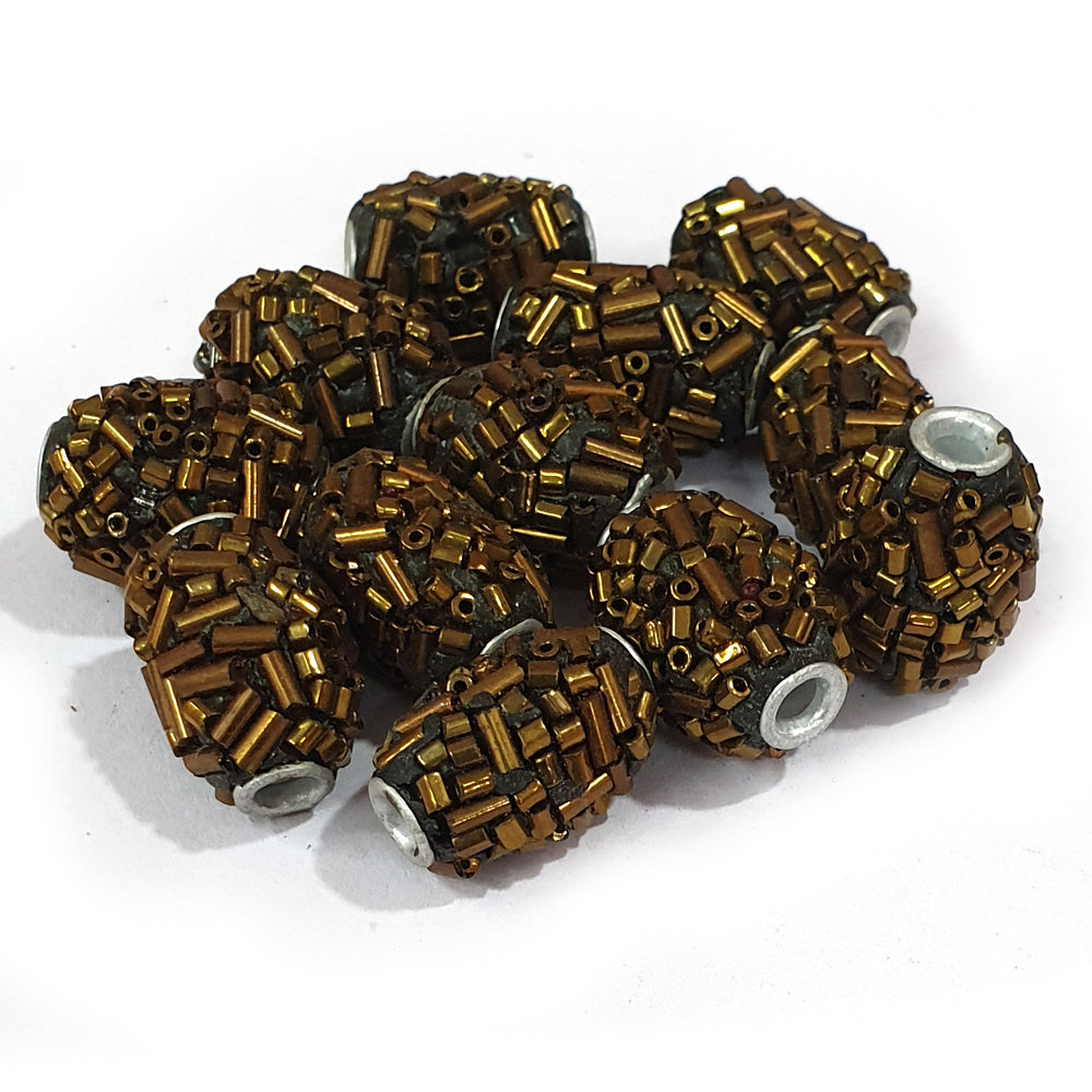 15x22mm measuring approx 100 Pieces handmade kashmiri lac beads.