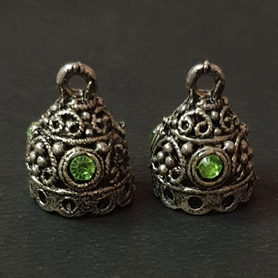 Per Kilo Pack 14x14mm Oxidized White Metal Base Jhumkas Findings Traditinal Indian