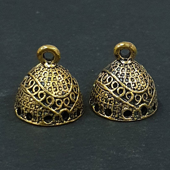 Per Kilo Pack 15x15mm Oxidized White Metal Base Jhumkas Findings Traditinal Indian