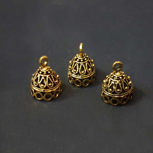 Per Kilo Pack Small  Size Oxidized Jhumka Base Jewellery Making