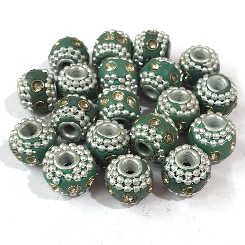 13x14mm measuring approx 10 Pieces handmade kashmiri lac beads.