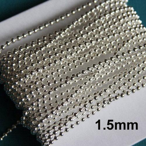 Silver Plated Ball Chain Sold by 1 kg Pack