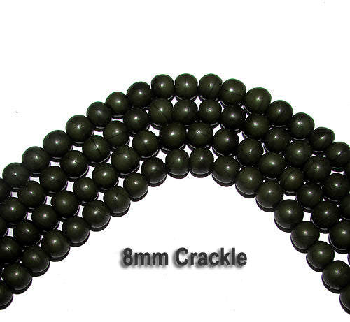 50 Pieces 8mm Handmade Resin Beads