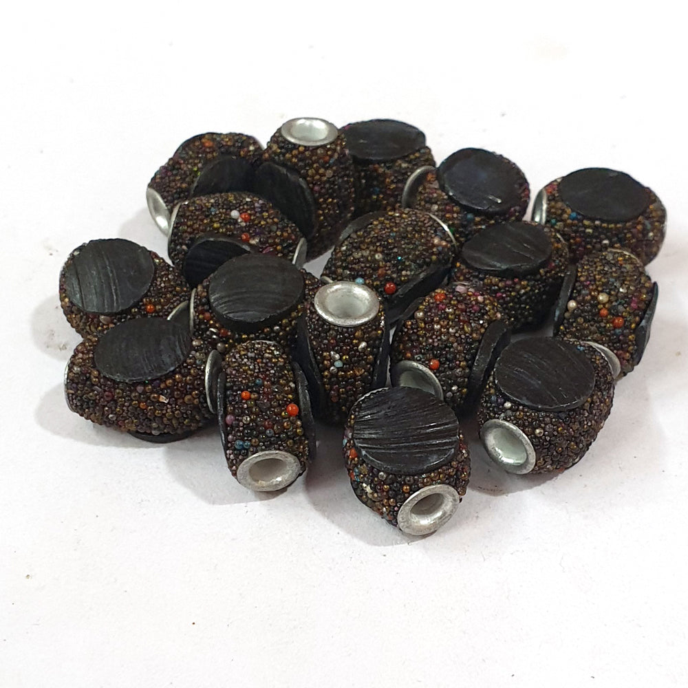 12x17mm measuring approx 10 Pieces handmade kashmiri lac beads.