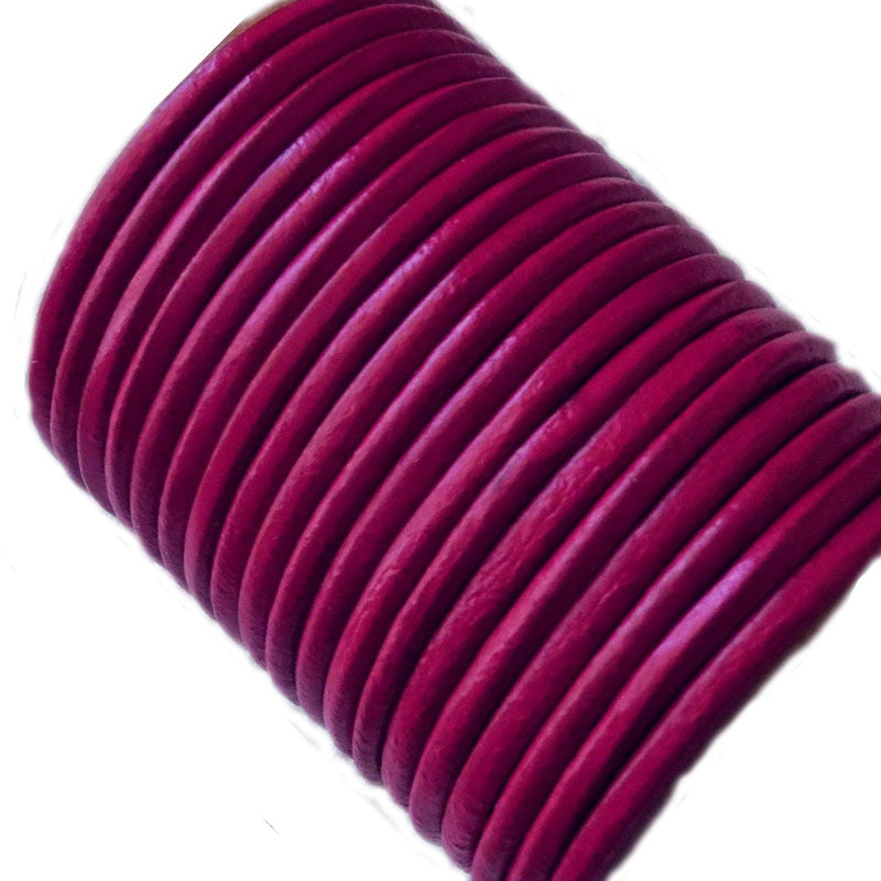 100 Meters More Shade of Pink Genuine Round Leather Cords Available in 0.5mm,1mm,2mm,3mm,4mm, Wholesale online india for jewelry making Great for beading, necklaces, Our Round Leather Cord is genuine and finest quality