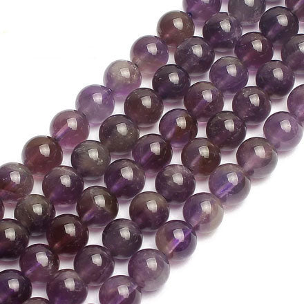 4 6 8 10 MM Natural Round amethyst Beads For Making Jewelry Bracelet Diy Accessories Smooth Round Stone Strand Beads