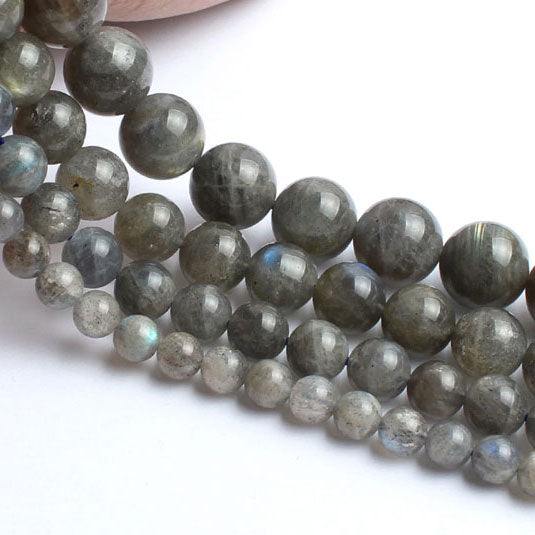 4 6 8 10 MM Natural Round Labradorite Beads For Making Jewelry Bracelet Diy Accessories Smooth Round Stone Strand Beads