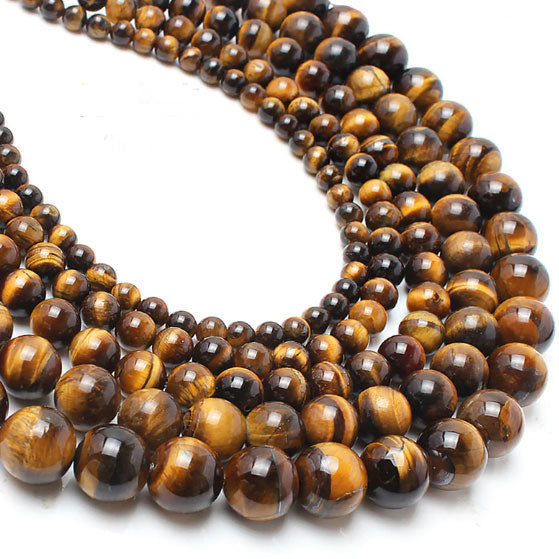 4 6 8 10 MM  Round Tiger Eye Beads For Making Jewelry Bracelet Diy Accessories Smooth Round Stone Strand Beads