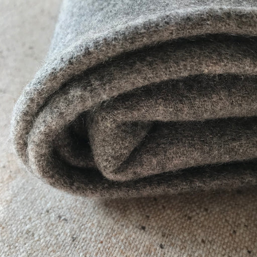 100% Cashmere Grey Beige Brushed Throw