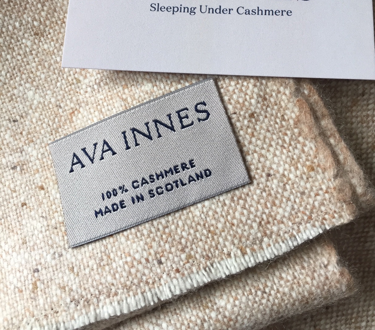 100% Cashmere Donegal Throw